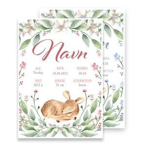 Bilde av Fødselsplakat Blomsterbord